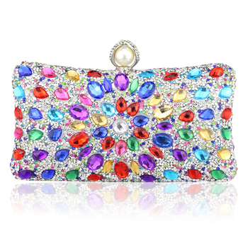 Diamond Crystal Candy Colored Clutch  2
