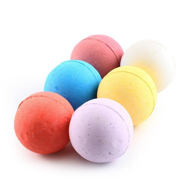 6pcs/Set Bath Bomb Balls Classic Colors and Simple Durable Design Moisturizing Exfoliating Oil-Control Body Salt Bubble 5