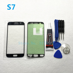 Image 5 - Front Outer Glas Linse Panel ersatz Für Samsung Galaxy S7 Rand G935 G935F S7 G930 G930F LCD touch screen + b 7000 kleber Werkzeug