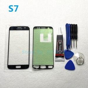 Image 5 - Remplacement de panneau de lentille en verre extérieur avant pour Samsung Galaxy S7 Edge G935 G935F S7 G930 G930F écran tactile LCD + outil de colle B 7000