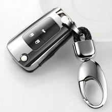 Plating Soft TPU Car Flip Key Case Cover For Buick Chevrolet Cruze Opel Vauxhall Mokka Encore Astra Corsa E Insignia Zafira G H