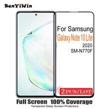 2 Pcs 100% Originele Volledige Cover Screen Protector Gehard Glas Voor Samsung Galaxy Note 10 Lite Beschermende Glas Voor SM N770F film