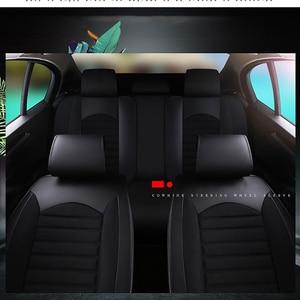 Image 5 - Kalaisike leather plus flax 범용 카시트 커버 미쓰비시 모든 모델 pajero dazzle asx lancer pajero sport outlander