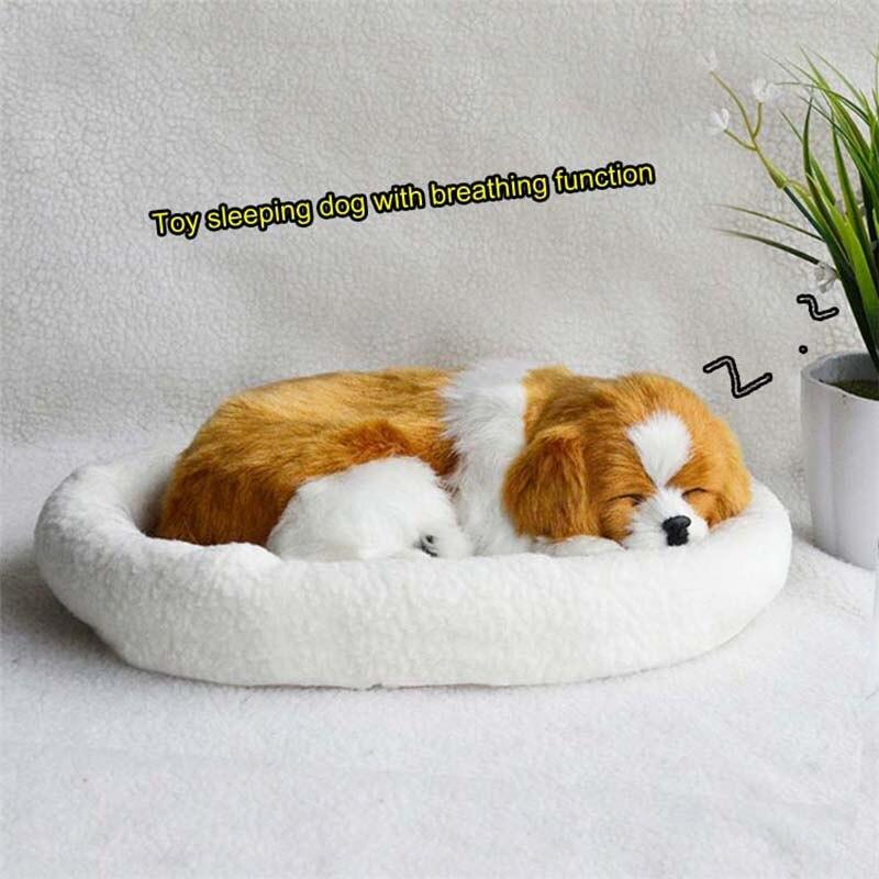 18 Patterns Electronic Pets Simulation Animal Simulation Dog Breathing Dog Lovely Dog Real Hair Birthday Gift Animal Model