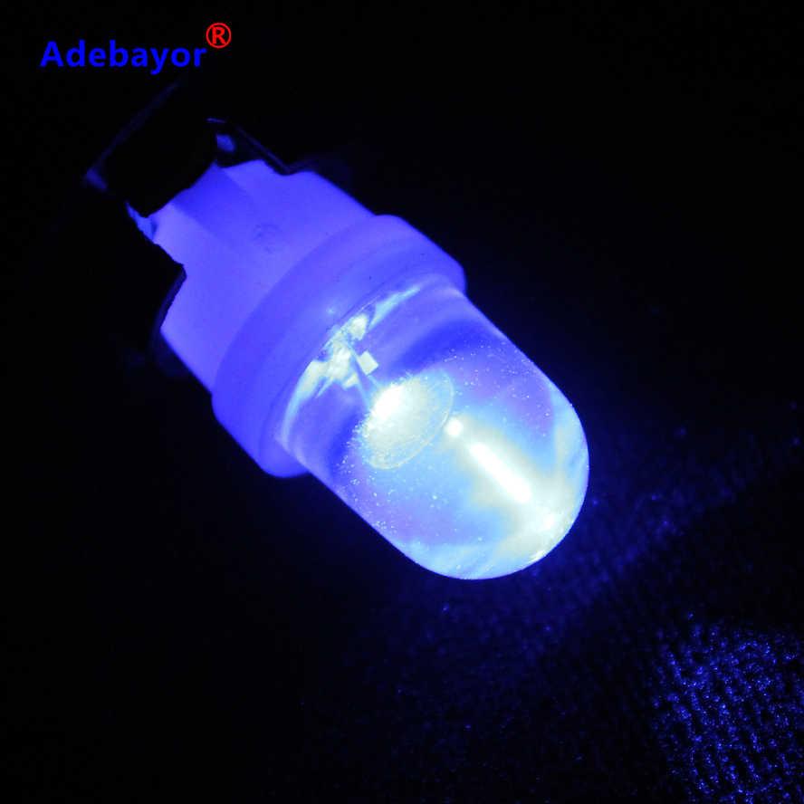 1 個車の led バブルライト T10 1LED ブルー丸頭挿入バブル計器ライト読書ライト幅ランプアデバヨール