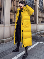 2019 Winter Leisure Parka Sports Down Jacket Oversize Hip hop Style Loose Shiny Long Coat Women Plus Size