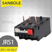 Przekaźnik termiczny przeciążenie ciepła JRS1-80 (LR1-80) 80A AC380V Reset ochronny 3 piny