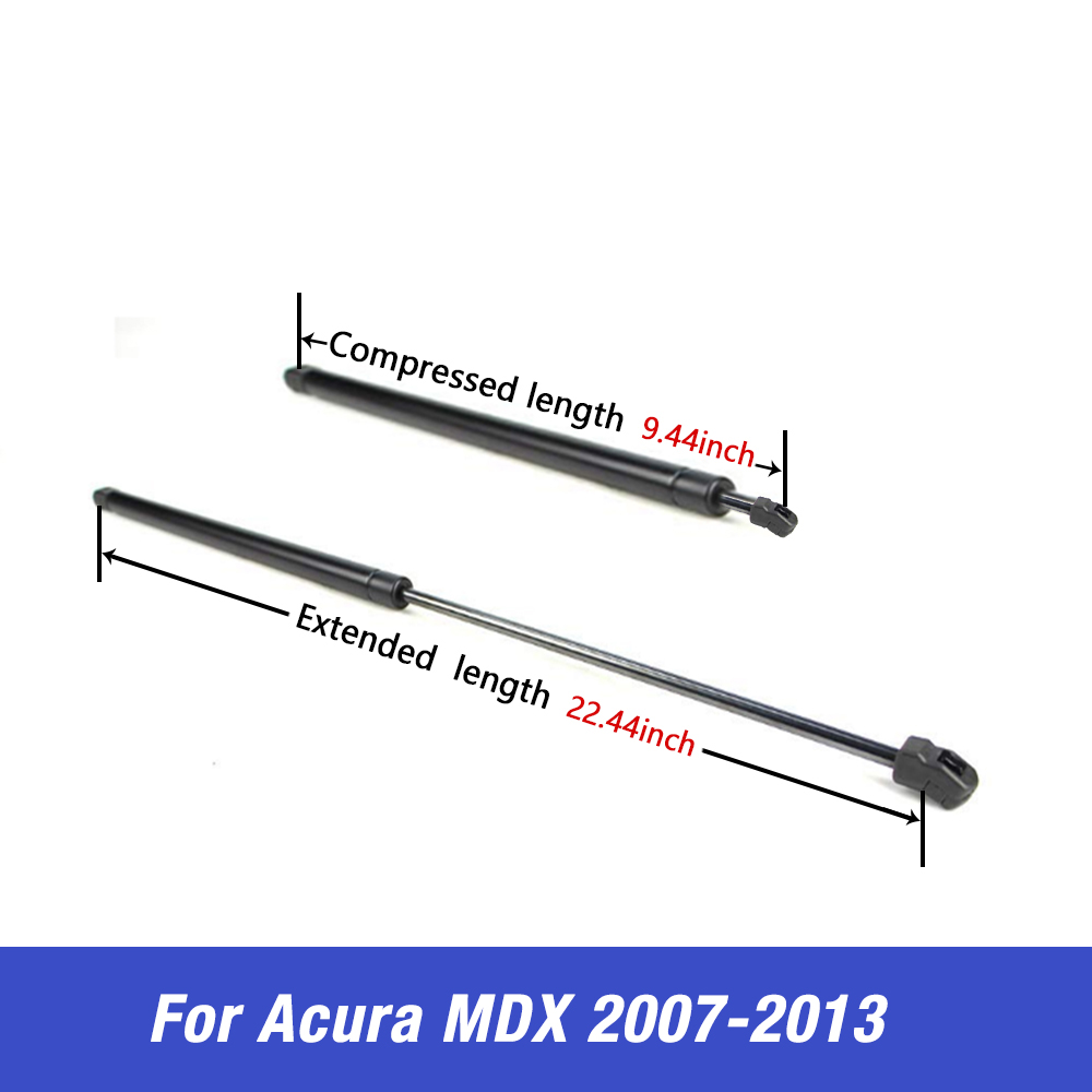 For Acura MDX 2007-2013 Front Hood Lift Support Shock Strut Rod Replacement Set