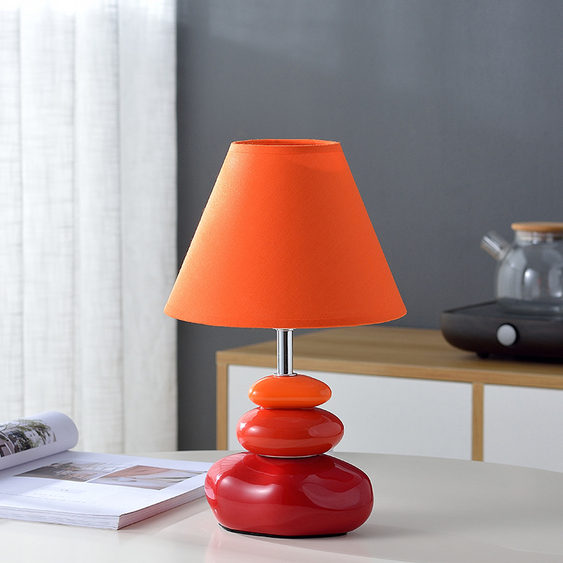 LOFT Vintage <font><b>Table</b></font> <font><b>Lamps</b></font> for Bedroom Bedside Lighting <font><b>Ceramic</b></font> <font><b>base</b></font> E27 Dimming Remote Control Stand <font><b>Table</b></font> Light Study Student image