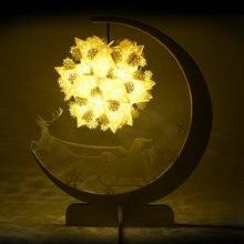 Ночник светильник 3d Бумажная художественная лампа Теплый настольная