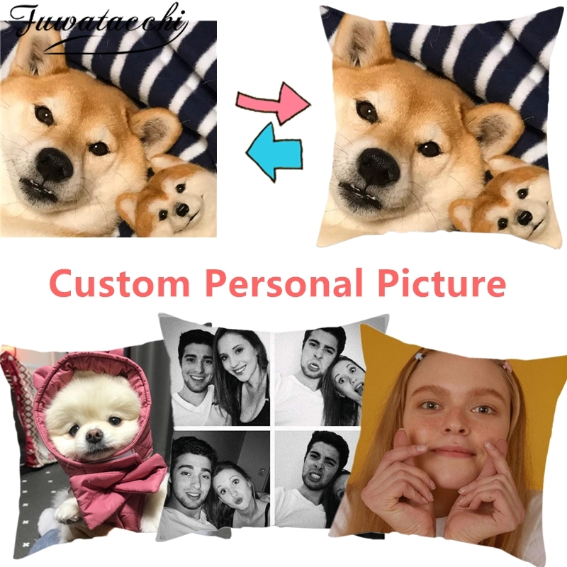 Fuwatacchi Coushion Cover Double Sided Optional Print Customize Gift Throw Pillowcase Print Personal Photos Throw Pillow Covers