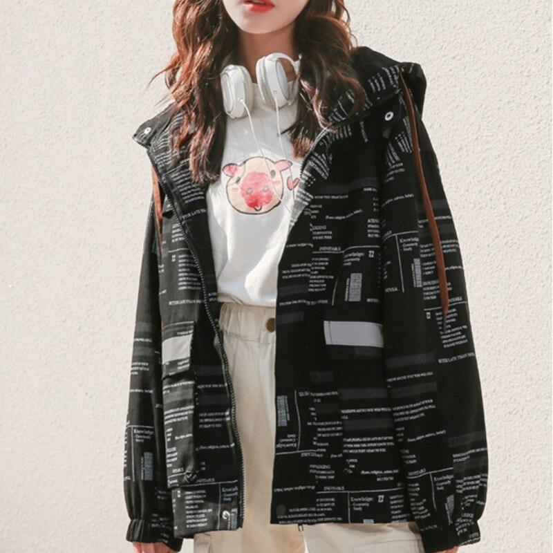 #9137 Spring Thin Casual Loose Hoodies Jackets Coats Women Plus Size Long Sleeve Jacket Ladies Big Pockets Hooded Streetwear 2