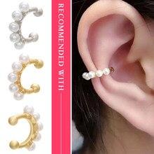 ZHUKOU-boucles d'oreilles en laiton, clips pour oreilles perlées, pour femmes et filles, modèle bijoux de mariage: VE167, 1 pièce 12x14mm