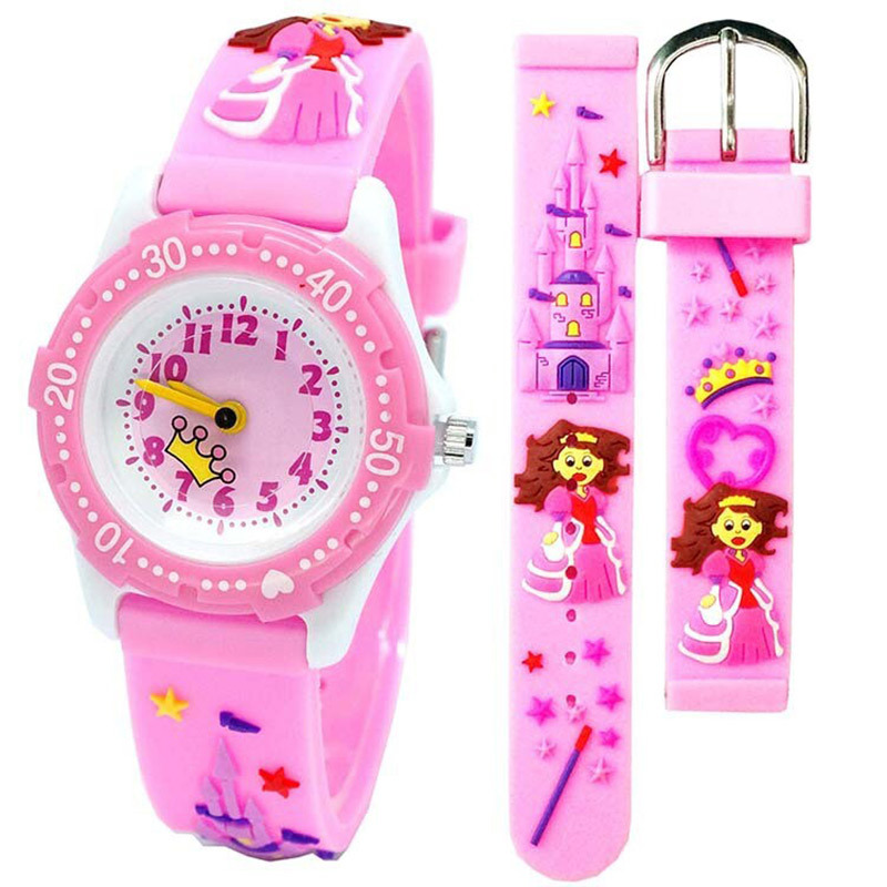 Creative Cartoon Castle Princess Children Watch Cute Waterproof Student Gift Watch