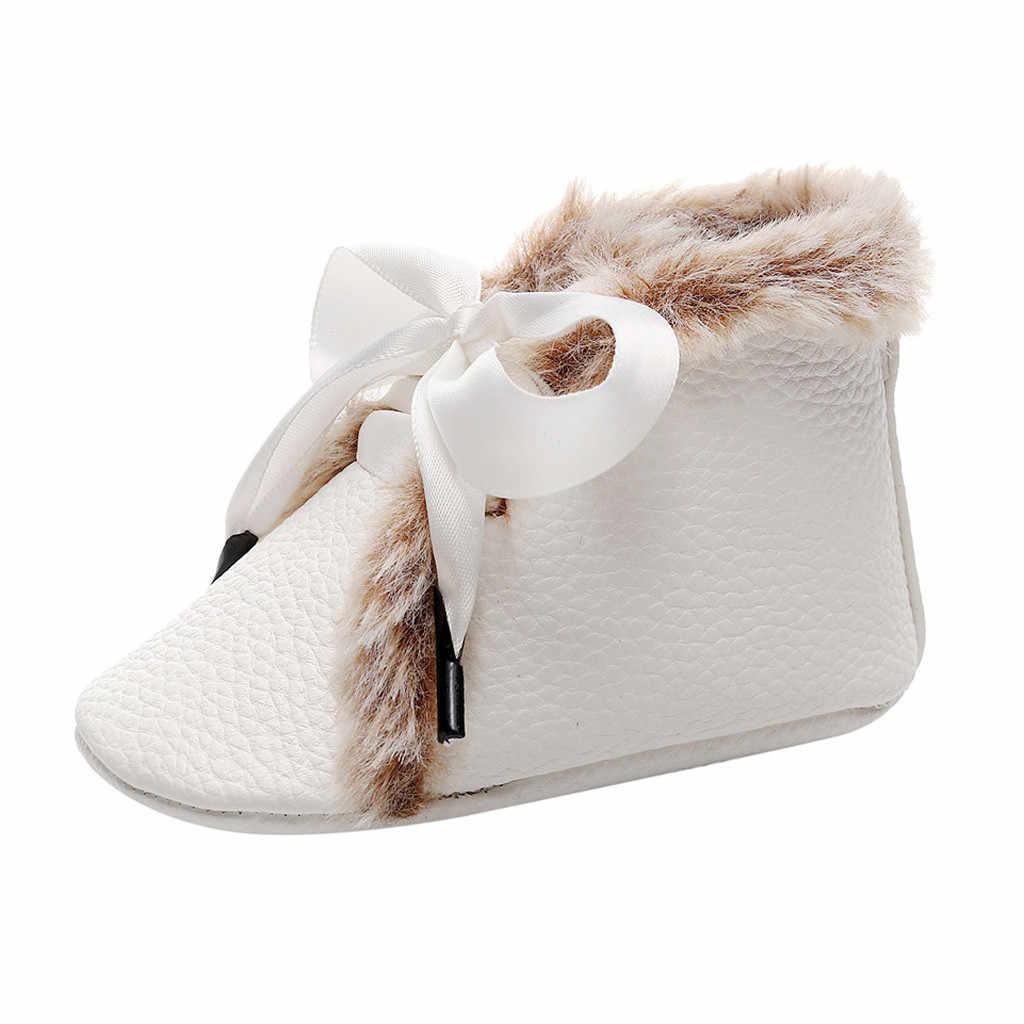 รองเท้าเด็กทารกแรกเกิดเด็กชายรองเท้า First Walkers รองเท้านุ่มรองเท้า Bowknot elegant Lace-up รองเท้าเด็กหญิง