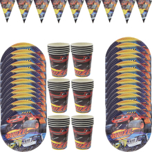 Birthday Themed Blaze Monsters Machines Car party decor Tableware Set Plate Cup Party avors for kids Baby Shower Supplies