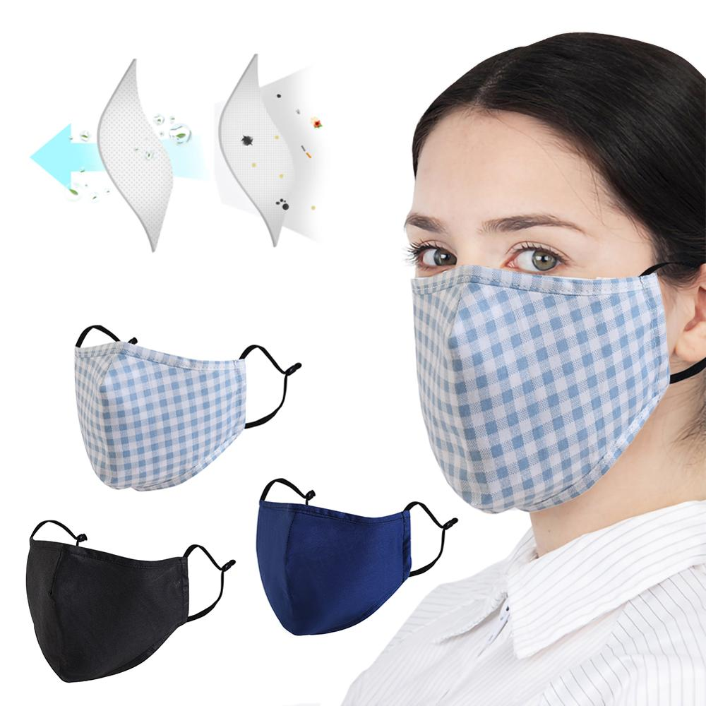 Cotton PM2.5 Mouth Mask Anti Dust Mask 10Pcs Activated Carbon Filter Pollution Proof Face Masks Washable Reusable Mouth Masks