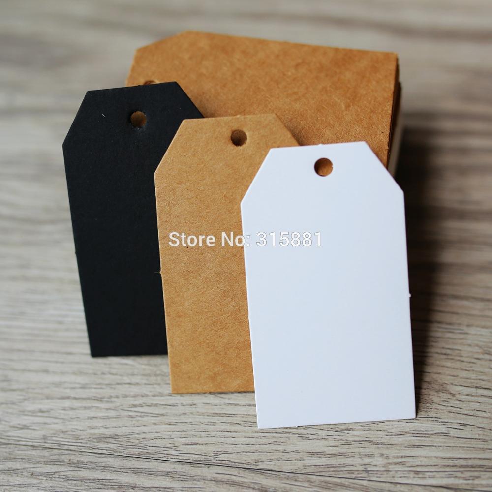 Trapezoid Kraft подарочные бирки, Свадебные вечерние бумажные бирки, ценник, бирка 4x7 см, 100 шт./лот