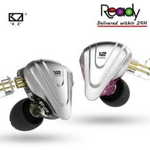 KZ ZSX 5BA + 1DD 12 יחידה היברידי ב אוזן אוזניות מוסיקת ספורט HIFI מתכת אוזניות ZS10PRO ZSNPRO עבור אנדרואיד ZSX C12 AS10 לZST E10