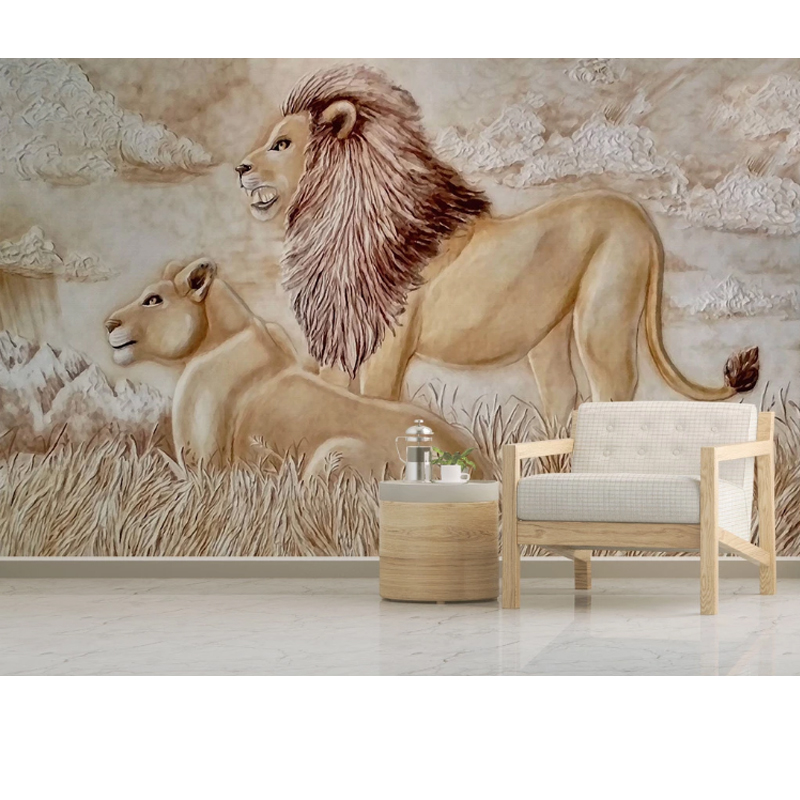 Animal Leopard Lion Custom Photo Wallpaper 3D Stereoscopic Wallpaper Living Room Bedroom Sofa Backdrop Wall Murals Wallpaper2020