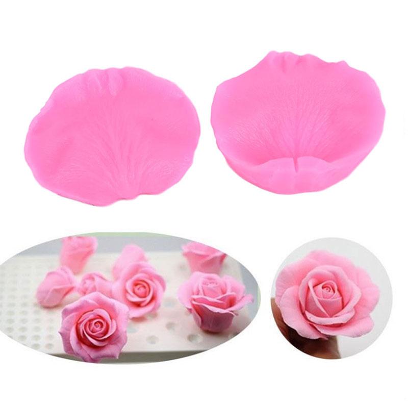 New Rose Petals Veiner Sugar Tool Meridians Flower Silicone Cake Mold Sugar Tool