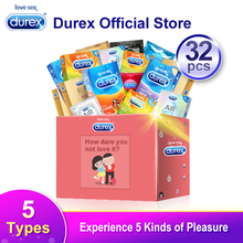 Durex Condom Mix 32Pcs AiR Ultra Thin Intimate Goods Contraception Sex Products Natural Rubber Penis Cock Sleeve Condoms For Men