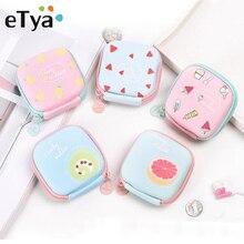ETya/мультяшный Кошелек для монет с фруктами; сумка для наушников; милый детский чехол для монет на молнии; женские кошельки; мини-кошелек для ключей; сумка для хранения наушников