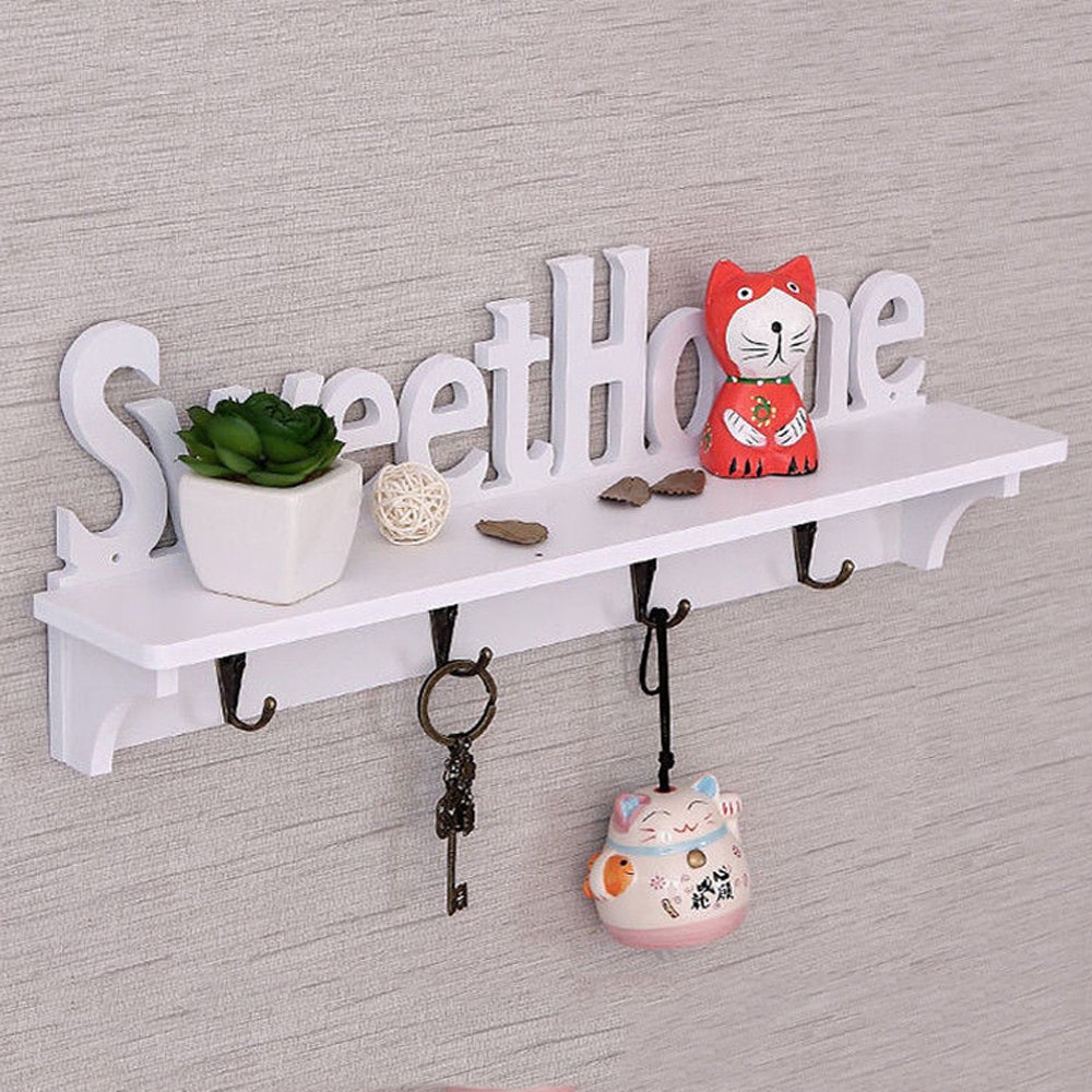 DIY Wall Hangers Wood-plastic Assembly Wall Hook Door Mounted Rack Coat Hat Clothes Key Hanger Home Storage Holder