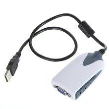 Usb 2.0 vgaディスプレイアダプタコンバータ余分なモニターhdtv pcのラップトップ用の液晶ledモニタプロジェクターposシステム
