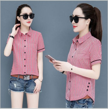 Women stripe Blouses Basic Selling Button Solid 2020 summer Long Sleeve Shirt Female Chiffon Women's Slim Clothing Plus Size Top plus size chiffon long sleeve layering top