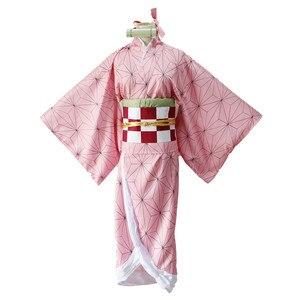 Image 4 - קוטלת שד Kimetsu לא Yaiba קאמאדו Nezuko קוספליי בגדי תערוכת כנס שנתי ביצועי ליל כל הקדושים cosplay תלבושות