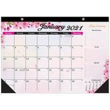 2021 Настенные календари 12 месяцев висит красочный календарь