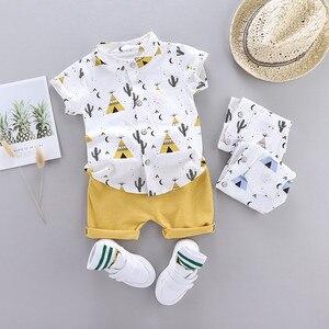 男の赤ちゃん服セット漫画 tシャツトップス tシャツトップス夏の少年少女のベビー服 2020