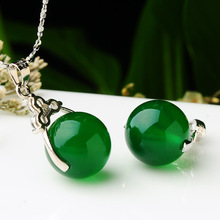 925 Sterling Silver Necklace Emerald Pendant Customizable Natural Malachite Agate Opal Gem Topaz Pendants Jewelry Jade Bizuteria