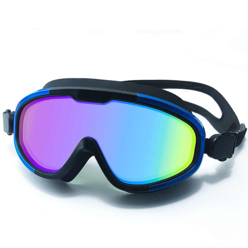 Çift katmanlı kayak gözlüğü yüzme gözlükleri reçete yüzme gözlükleri kayak gözlüğü açık çocuk dalış maskesi, anti-sis dalış