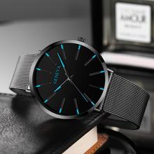 New Luxury Ultra Thin Watch Men Steel Mesh Quartz Wristwatches For Man Brand Fashion Waterproof Creative Clock relogio masculino