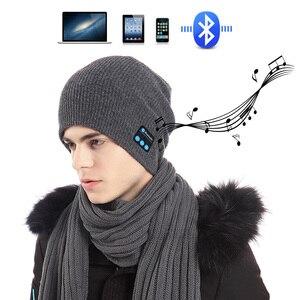 Image 5 - Bluetooth イヤホン音楽帽子冬ワイヤレスヘッドフォンキャップヘッドセットとマイクスポーツ帽子魅ソニー Xiaomi 電話ゲーミングヘッドセット