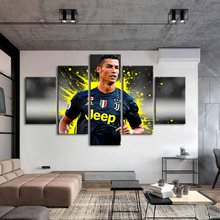 Sports Stars 5 Pieces Cristiano Ronaldo Posters Wall Canvas Paintings Art Football Game Prints Kids Room Home Decor