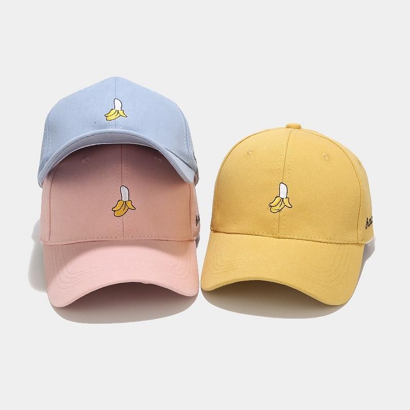 Korean New Banana Embroidery Baseball Caps Men And Women Hat Street Trend Peak Cap Tide Summer Student Couple Sun Hat Snapback
