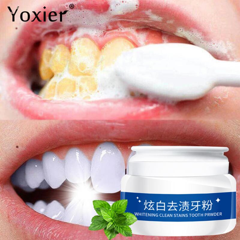 Fashion Whitening Clean Stains Tooth Powder 30g Protect Bright Teeth Oral Care Teeth Cleaning Fresh Breath Remove Tooth TSLM1