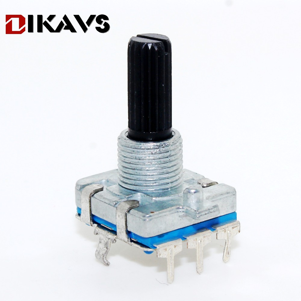 360 Degree Rotary Encoder EC16 Encoder Audio Coding 3Pin Handle Long 20MM