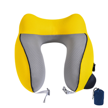 U-Shape Travel Pillow Accessories Essential Business Airplane Trip  Inflatable Neck Shading Rest Hat Office Nap Items u shape travel pillow for airplane inflatable neck pillow travel accessories 4colors comfortable pillows for sleep home textile