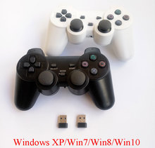 2 uds. Mando de Juegos de ordenador juego inalámbrico, Mando de 2,4 Ghz para PC, mando con doble vibración para Windows Win7 Win8 Win10