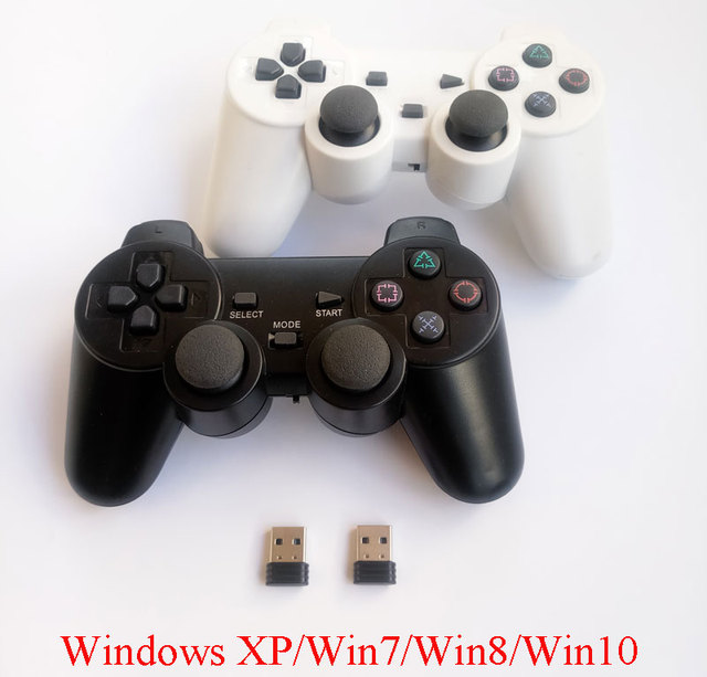 2pcs computer gamepad wireless game controller 2.4Ghz PC game control joystick with double vibration for Windows Win7 Win8 Win10