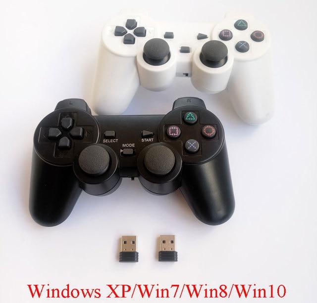 2pcs 컴퓨터 gamepad 무선 게임 컨트롤러 Windows Win7 Win8 win10에 대 한 이중 진동과 2.4Ghz PC 게임 제어 조이스틱