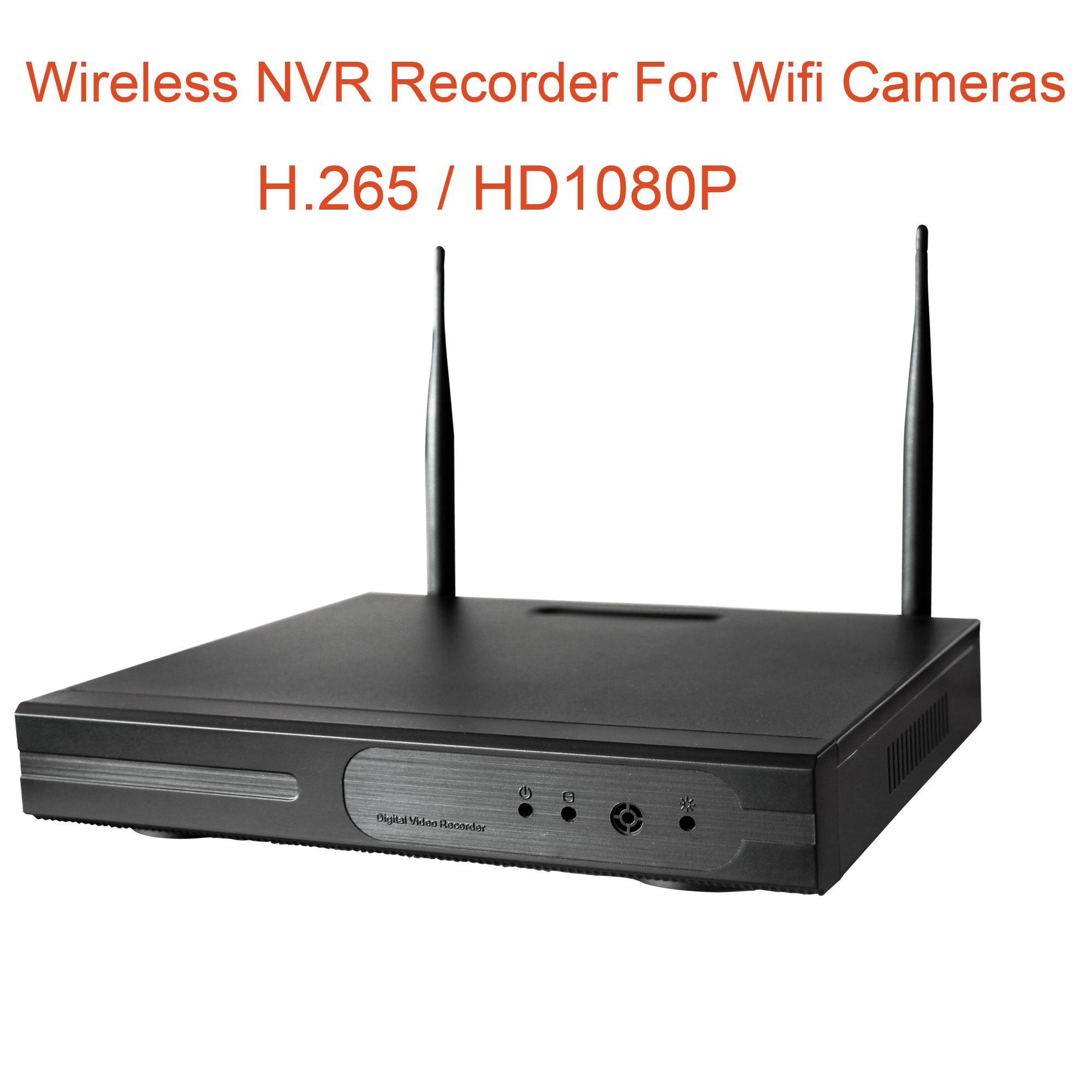 8CH H.265  HD1080P wireless NVR recorder for wirelss cctv camera system addmore wifi cctv cameras toNVR recorder NO POWER SUPPLY|Surveillance Video Recorder| |  -