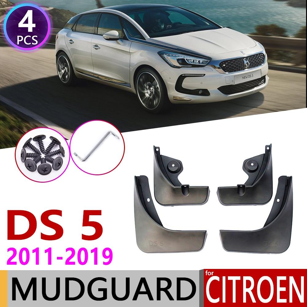 4 PCS Car Mudflap For Citroen DS 5 DS5 2011-2019 Fender Mud Guard Flaps Mudguards Accessories 2012 2013 2014 2015 2016 2017 2018
