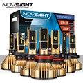 NOVSIGHT 72 Вт 12000лм H4 светодиодные фары H7 H11 H8 HB4 H1 H3 HB3 H13 HB5 Автомобильные светодиодные лампы  управляемые фары  золотые автомобильные лампы