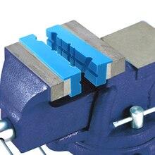 2Pcs Anti Slip Universal PUเครื่องมือVise Jaw Pad Reversibleอุปกรณ์เสริมผู้ถือเครื่องเจาะMulti Groove Magnetic Soft Grips