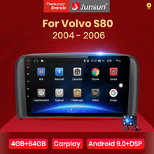 Junsun V1 4G + 64G CarPlay أندرويد 10 DSP لفولفو S80 1998   2006 سيارة راديو الوسائط المتعددة مشغل فيديو الملاحة لتحديد المواقع RDS 2 الدين dvd